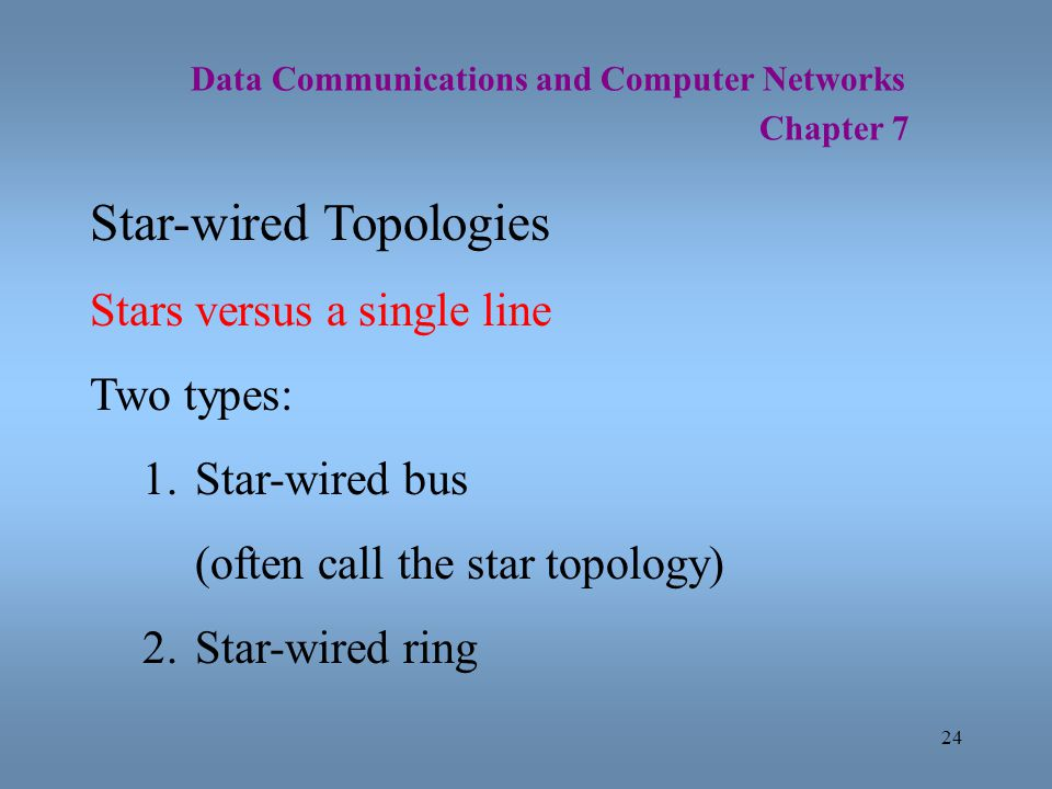 Star-wired Topologies