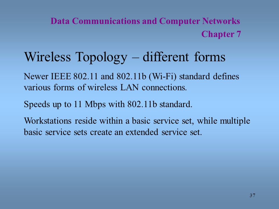 Wireless Topology – different forms