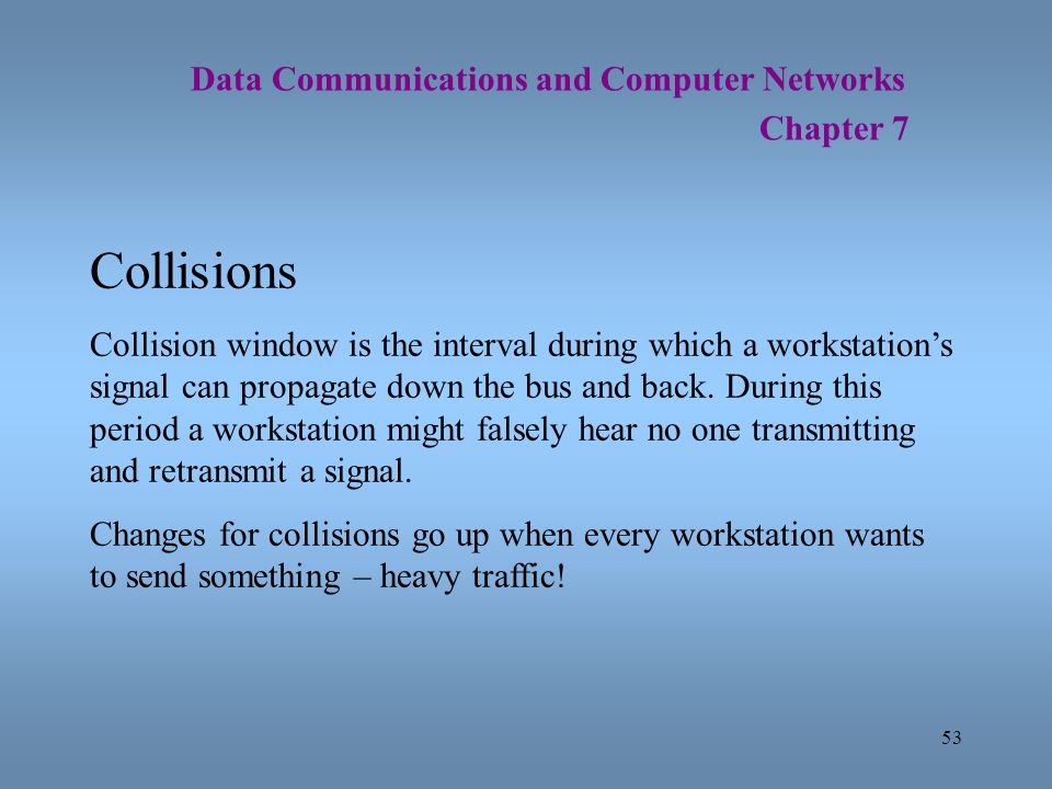 Collisions Data Communications and Computer Networks
