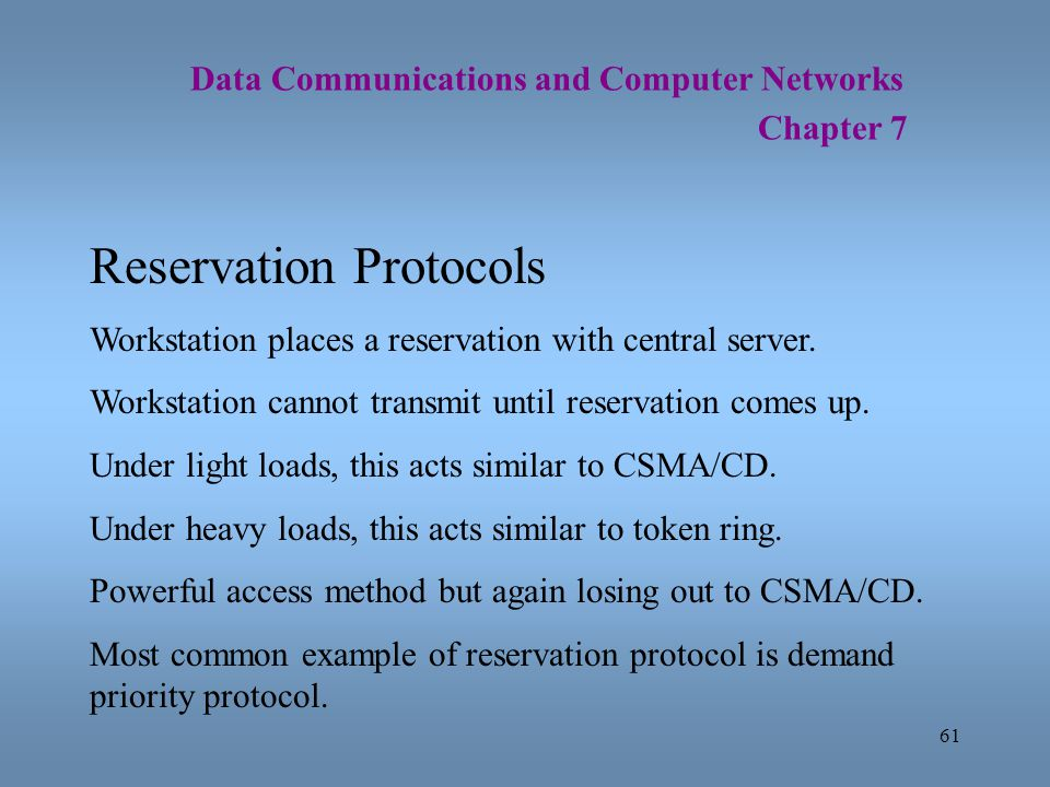 Reservation Protocols