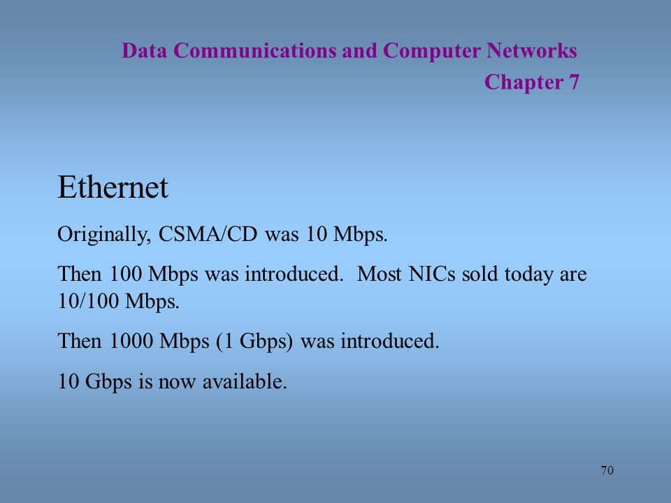 Ethernet Data Communications and Computer Networks