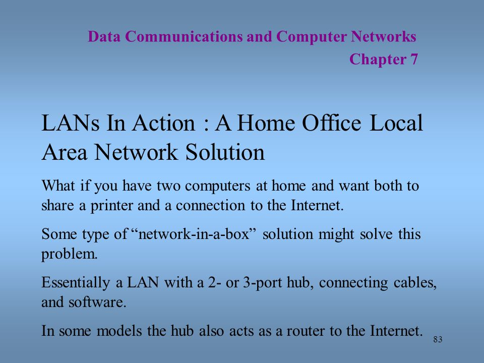 LANs In Action : A Home Office Local Area Network Solution