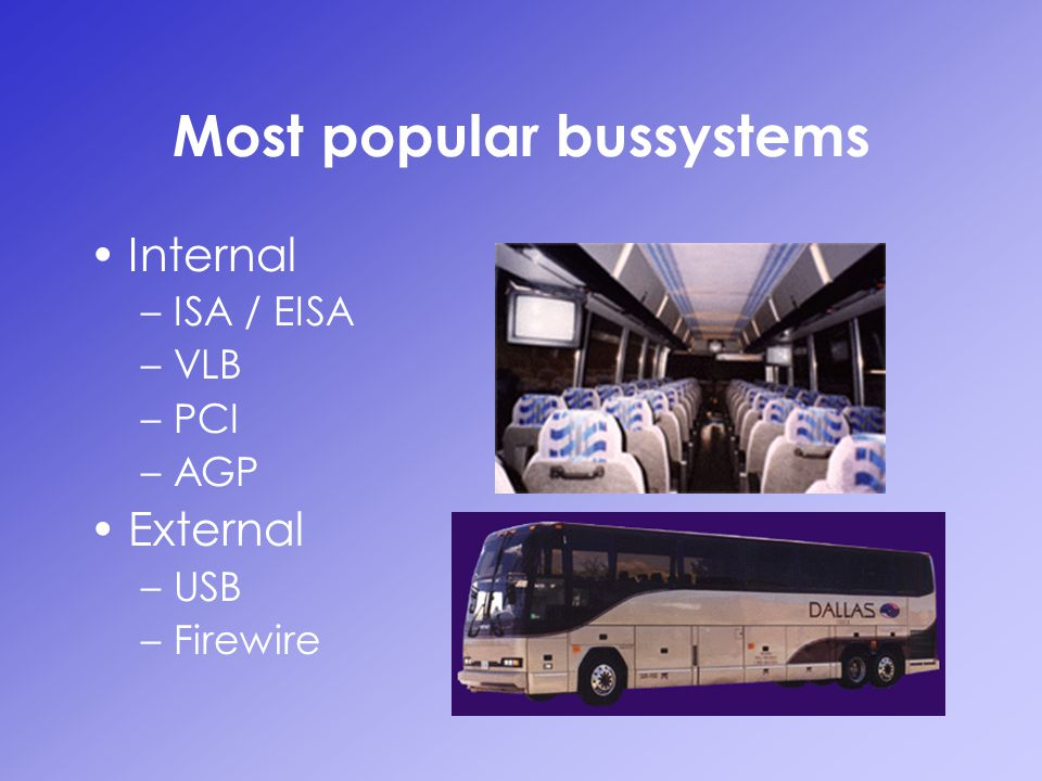 Most popular bussystems