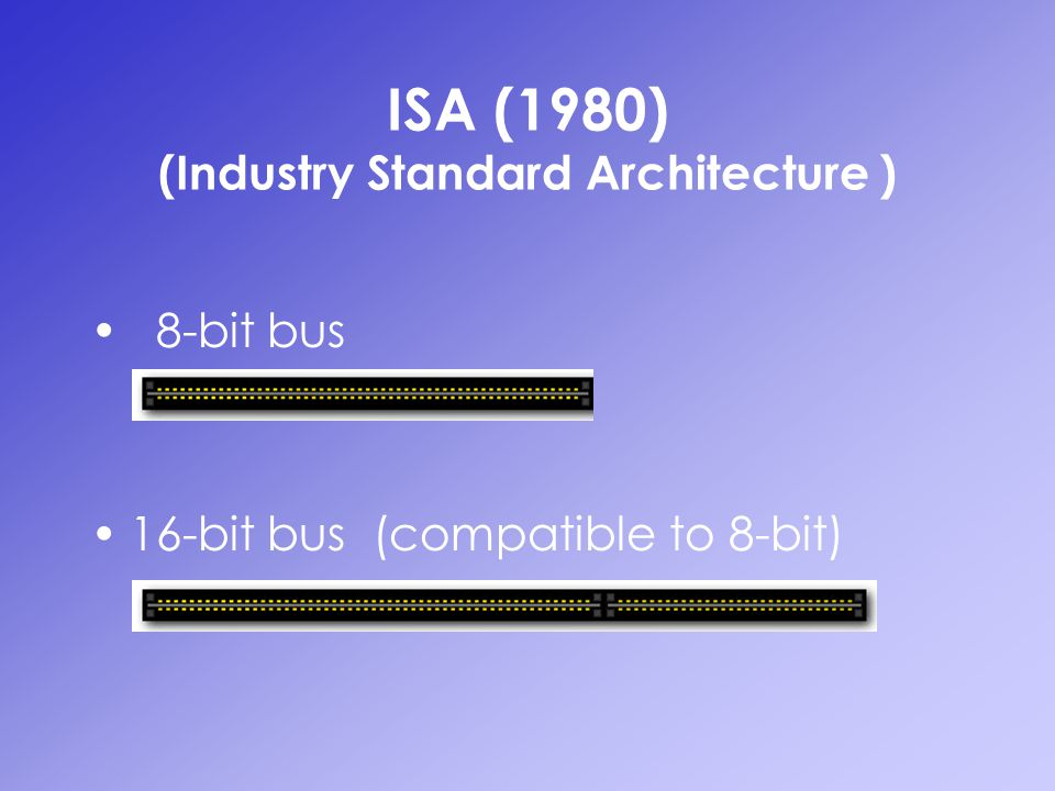 ISA (1980) (Industry Standard Architecture )