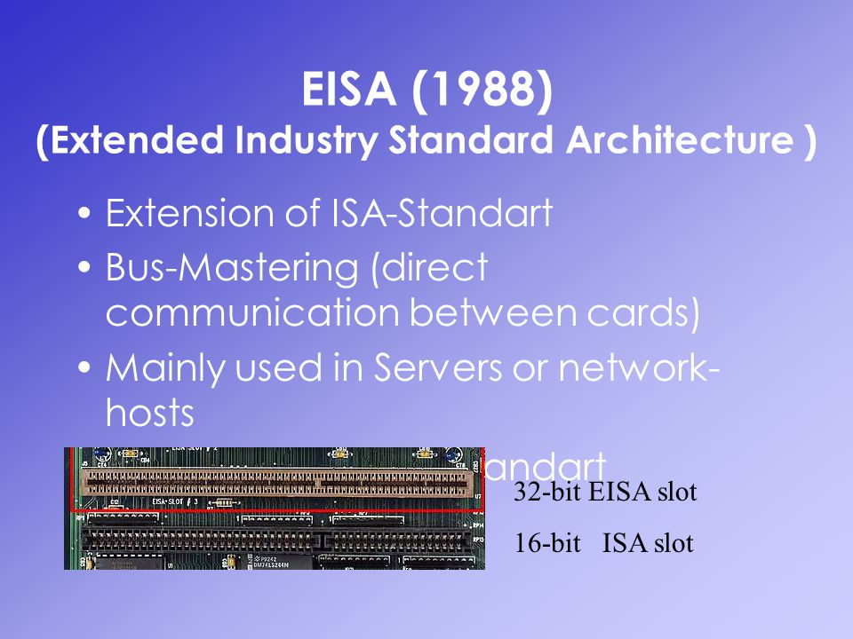 EISA (1988) (Extended Industry Standard Architecture )