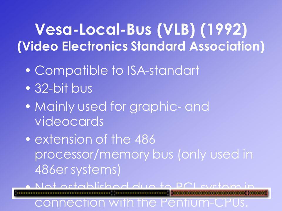 Vesa-Local-Bus (VLB) (1992) (Video Electronics Standard Association)