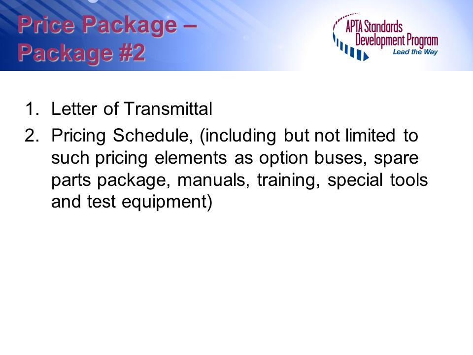 Price Package – Package #2