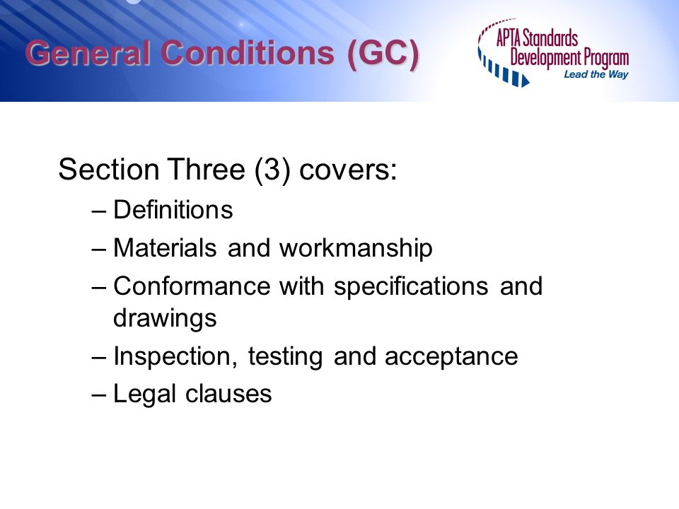 General Conditions (GC)
