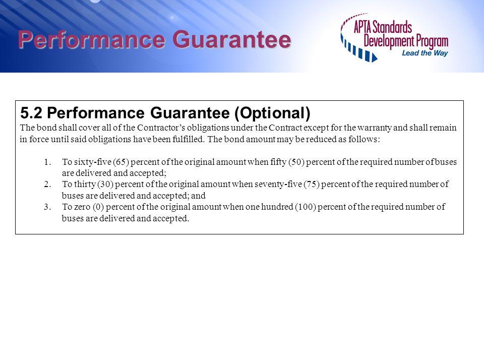 Performance Guarantee