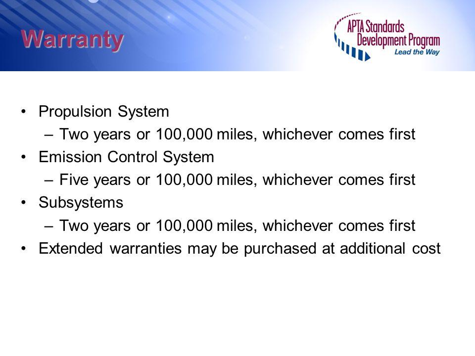 Warranty Propulsion System