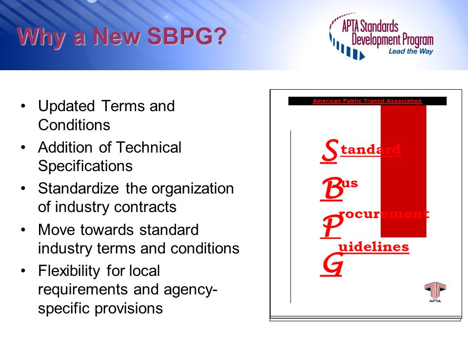 Why a New SBPG Updated Terms and Conditions