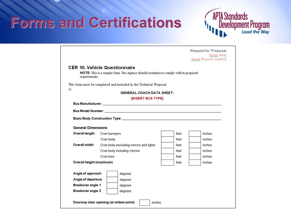 Forms and Certifications