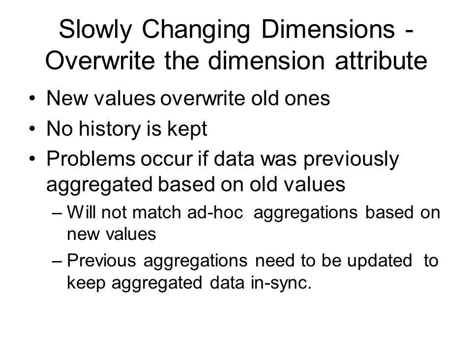 Slowly Changing Dimensions - Overwrite the dimension attribute