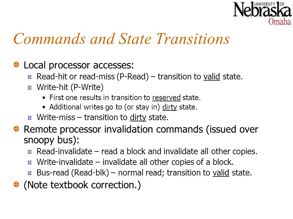 Commands and State Transitions