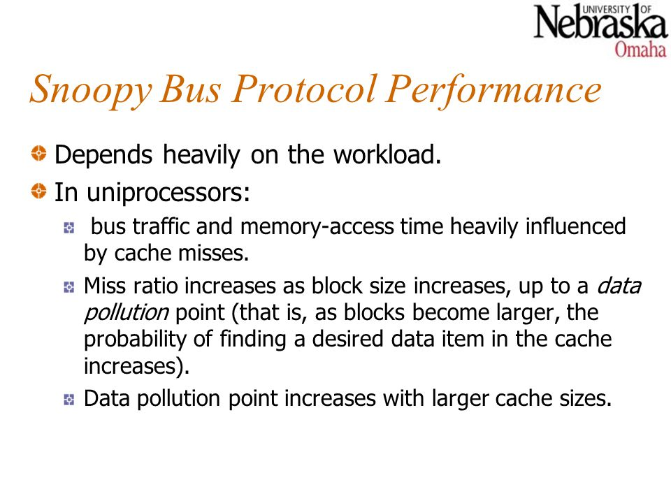 Snoopy Bus Protocol Performance