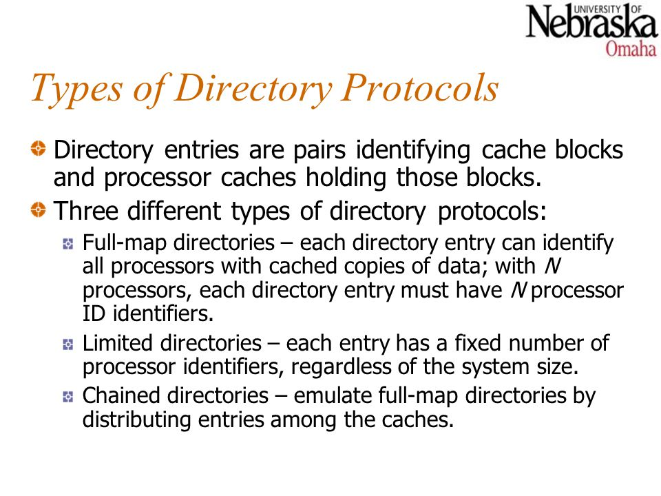 Types of Directory Protocols