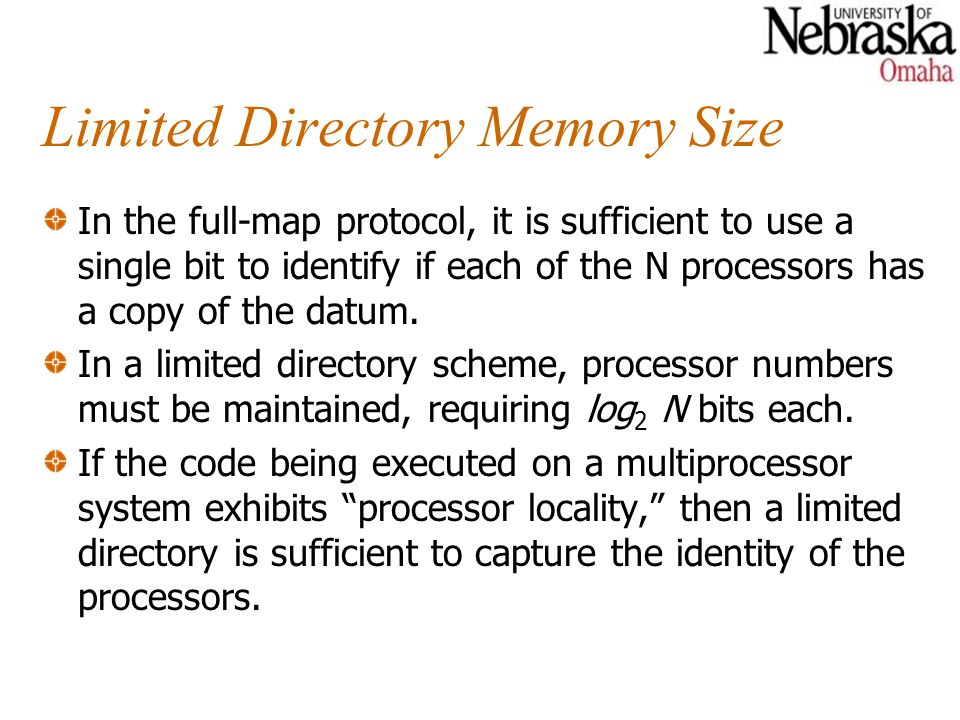 Limited Directory Memory Size