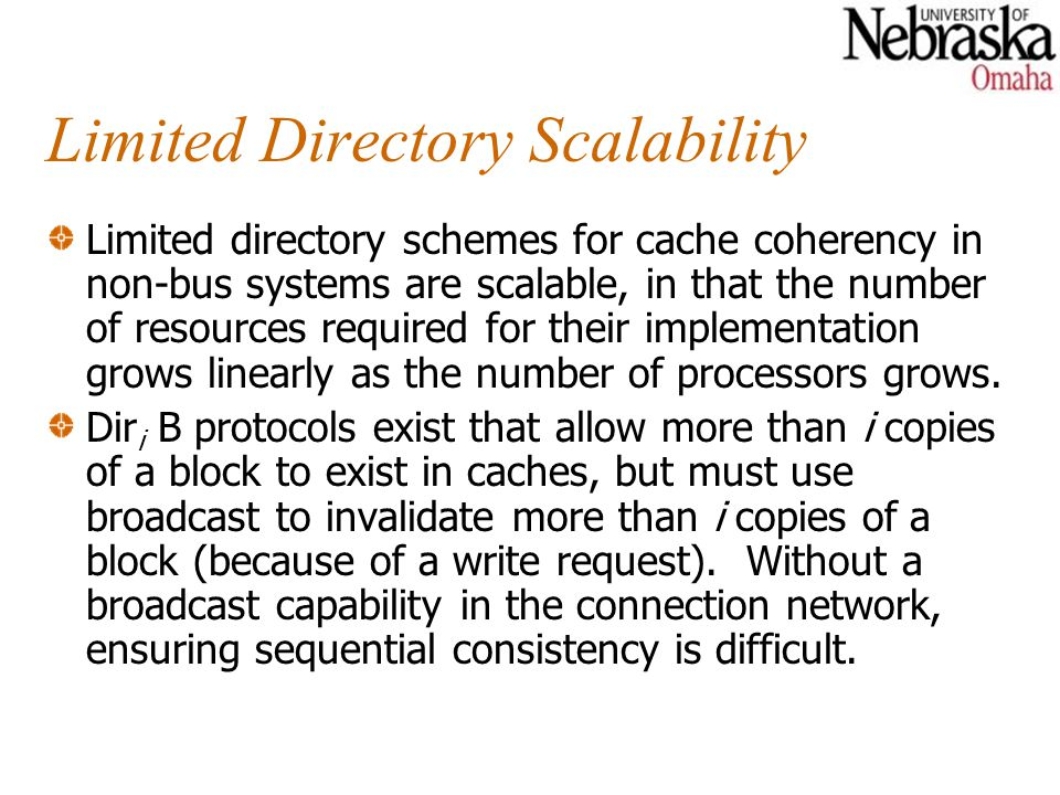 Limited Directory Scalability