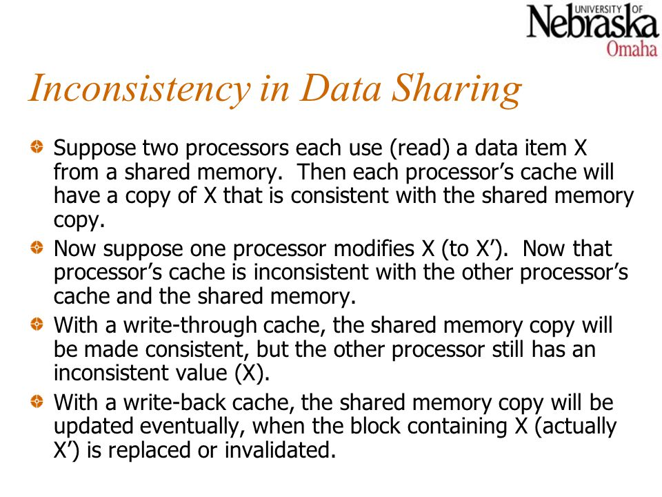 Inconsistency in Data Sharing