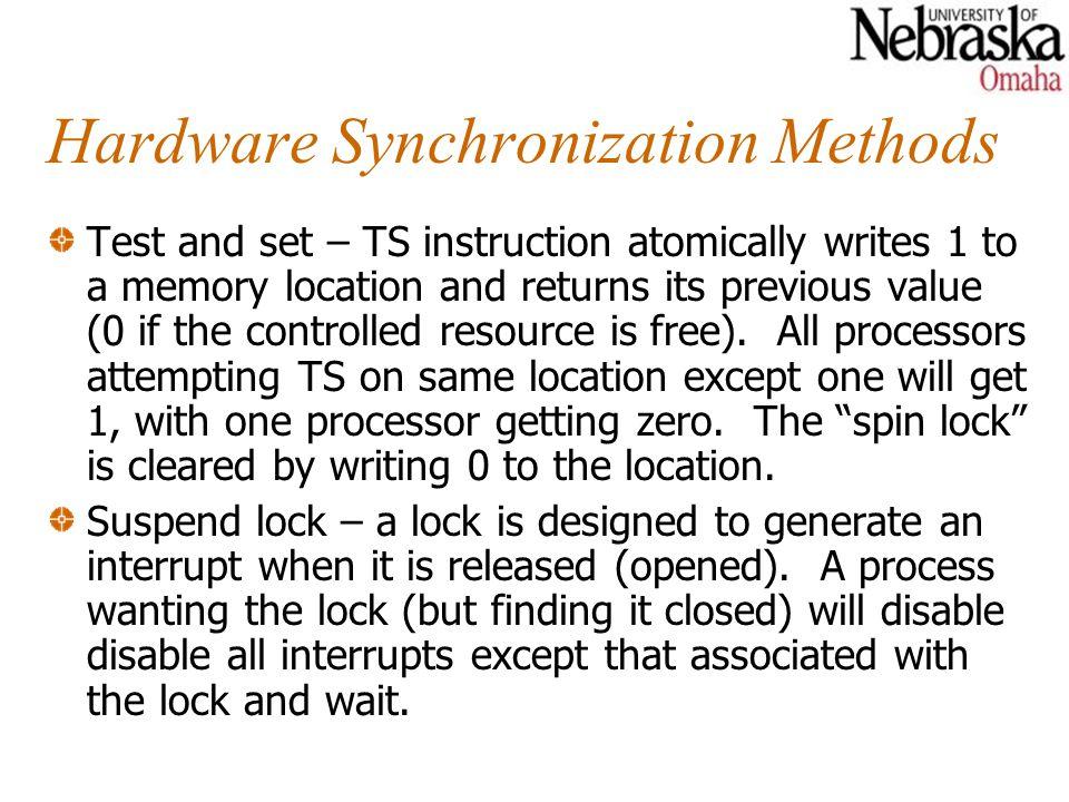 Hardware Synchronization Methods