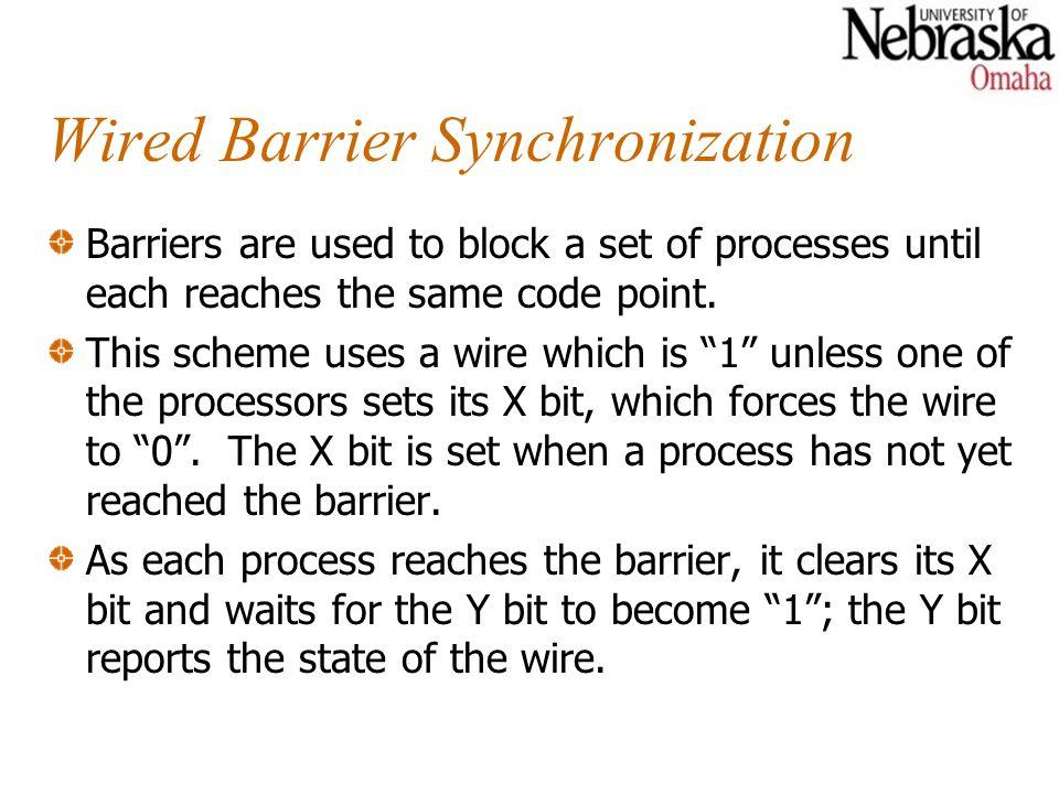 Wired Barrier Synchronization