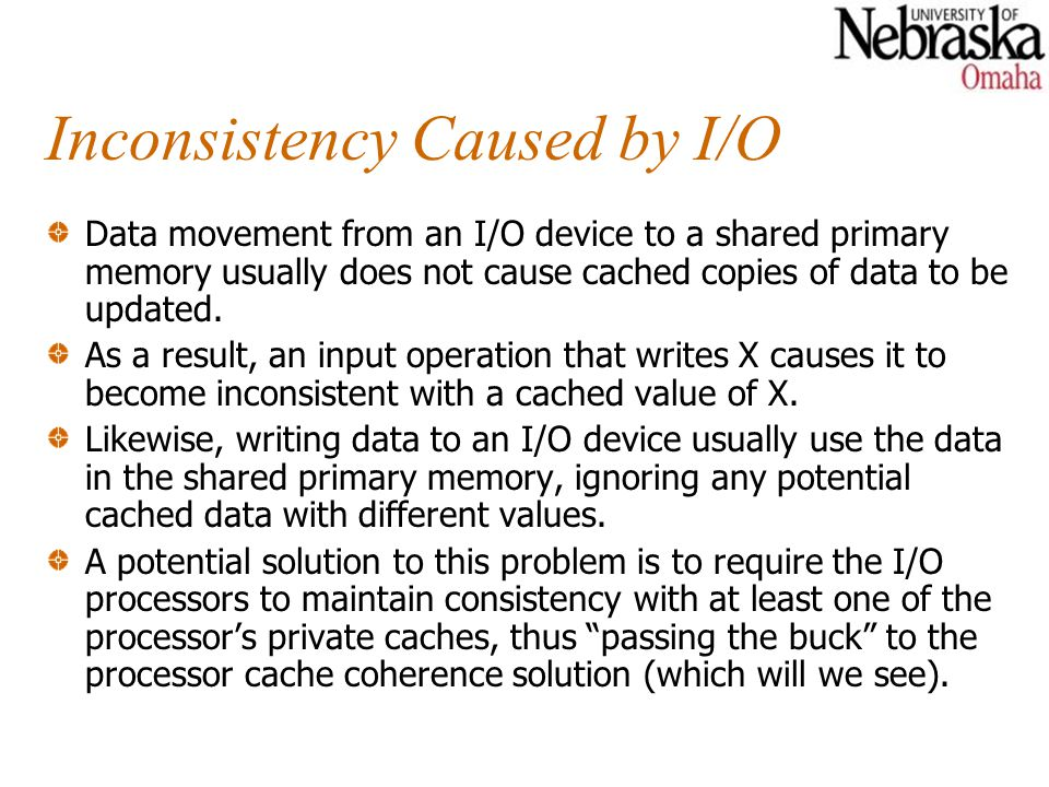 Inconsistency Caused by I/O
