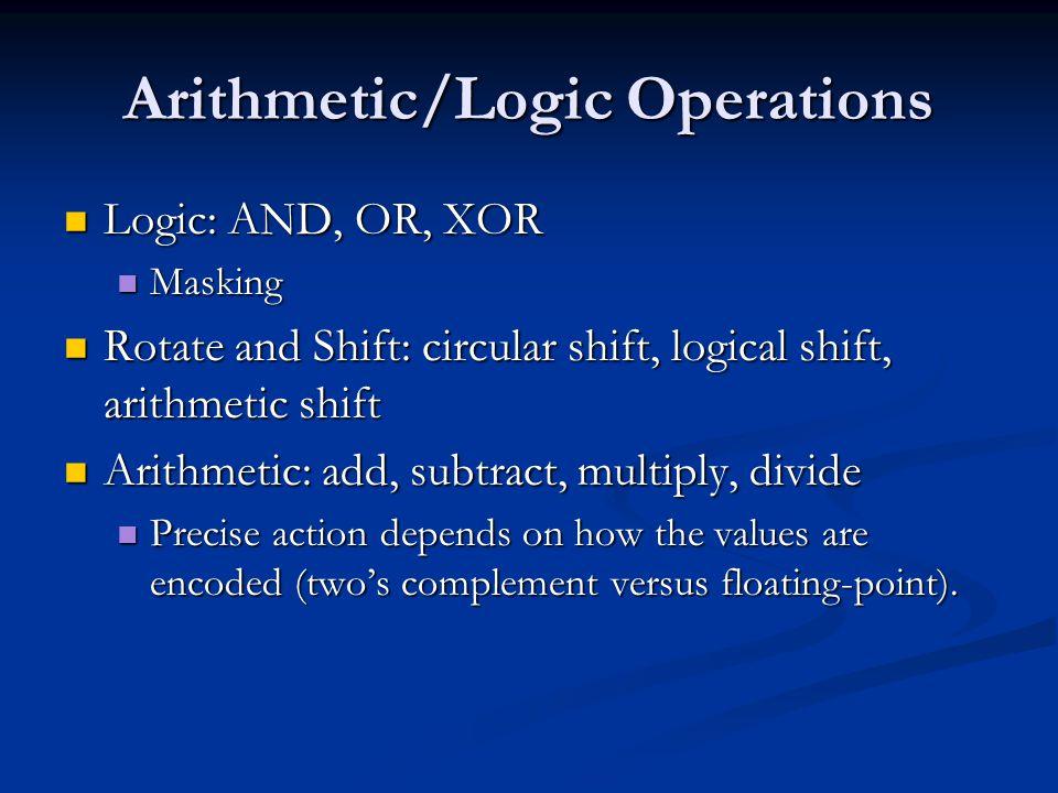 Arithmetic/Logic Operations