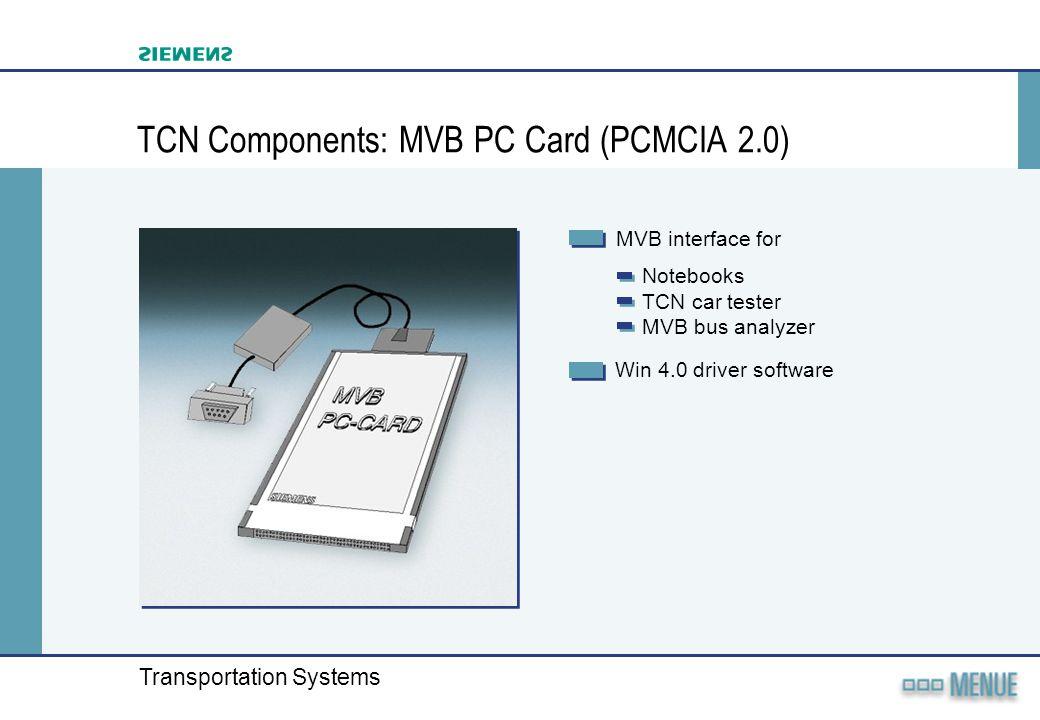 TCN Components: MVB PC Card (PCMCIA 2.0)