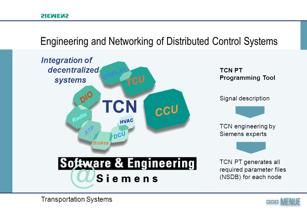 Engineering and Networking of Distributed Control Systems