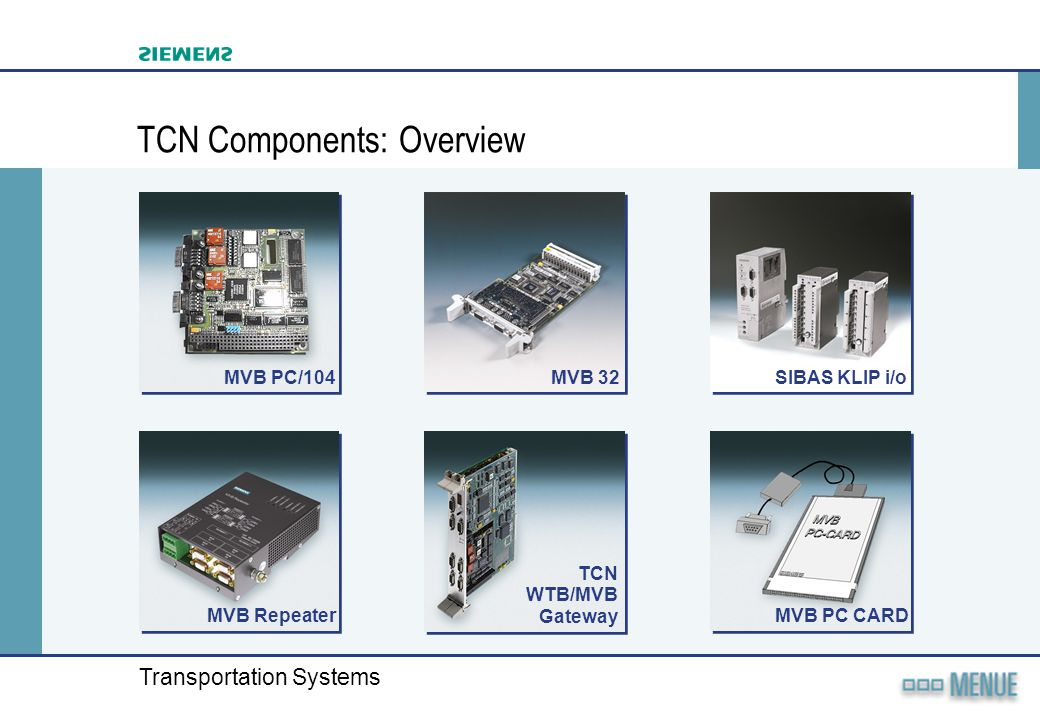 TCN Components: Overview