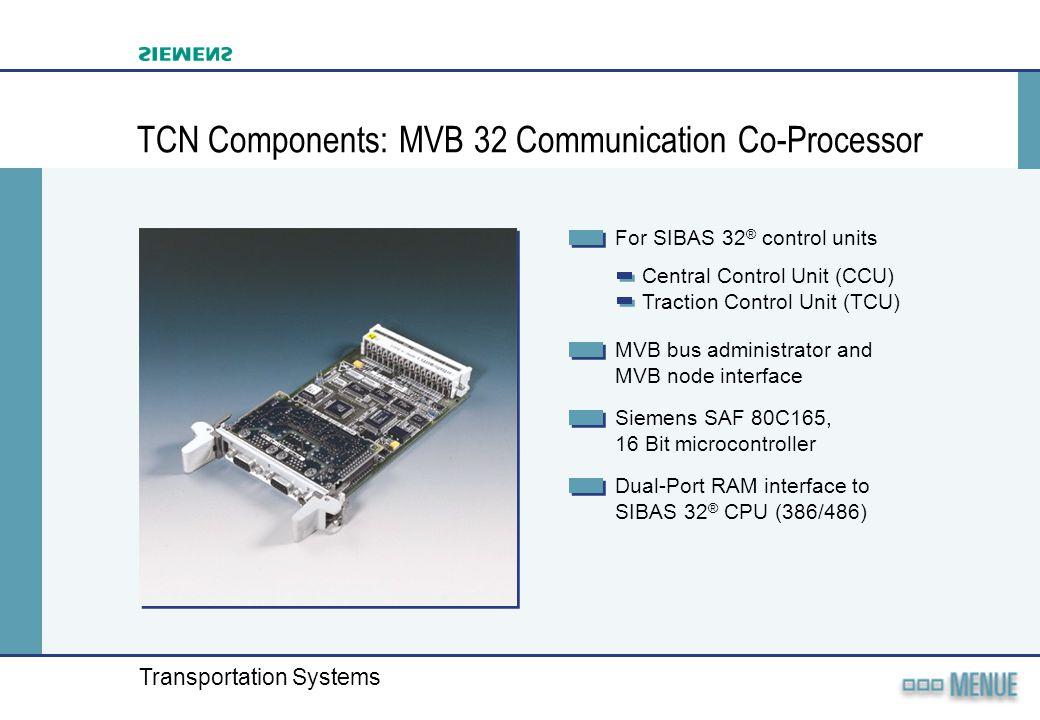 TCN Components: MVB 32 Communication Co-Processor
