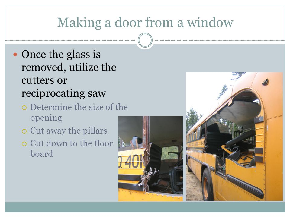 Making a door from a window