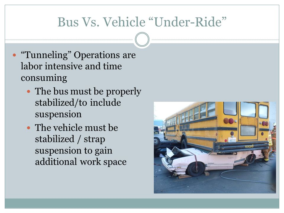 Bus Vs. Vehicle Under-Ride