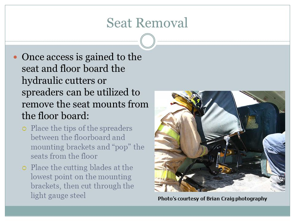 Seat Removal