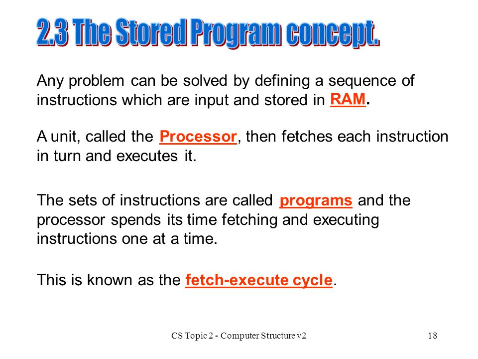 2.3 The Stored Program concept.