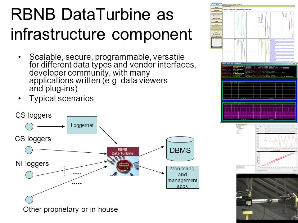 RBNB DataTurbine as infrastructure component