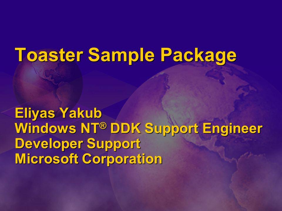 Toaster Sample Package Eliyas Yakub