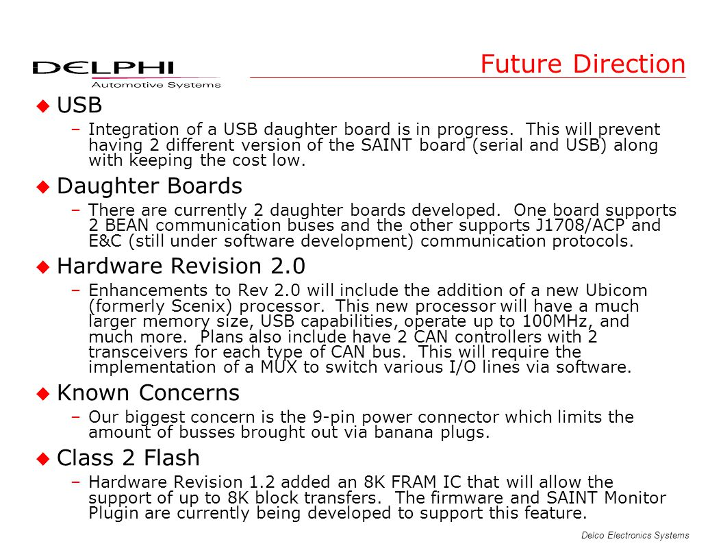 Future Direction USB Daughter Boards Hardware Revision 2.0