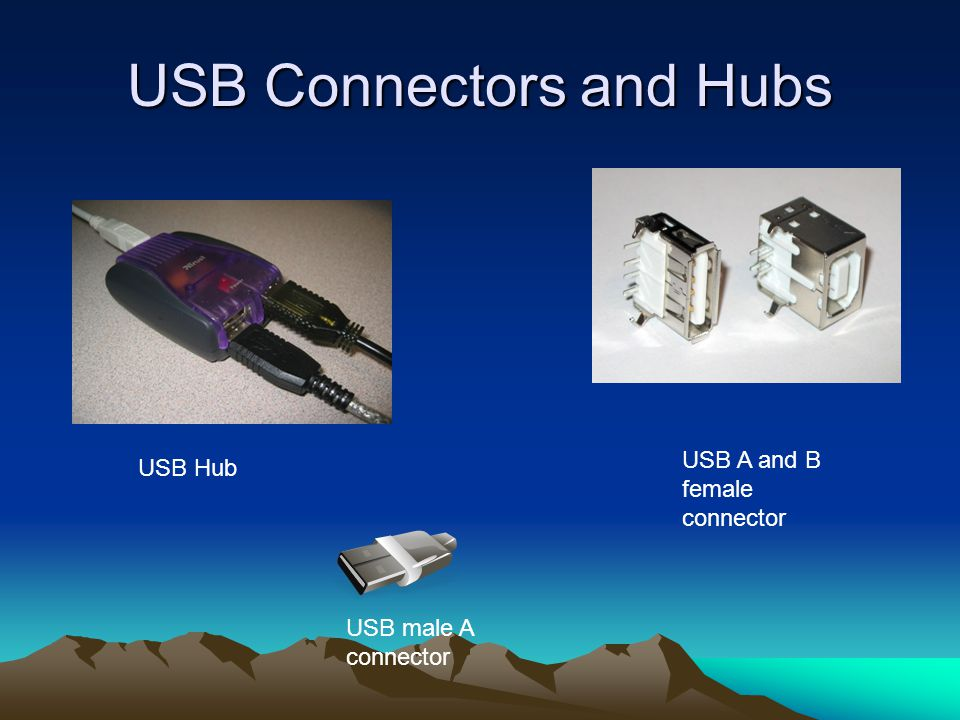 USB Connectors and Hubs