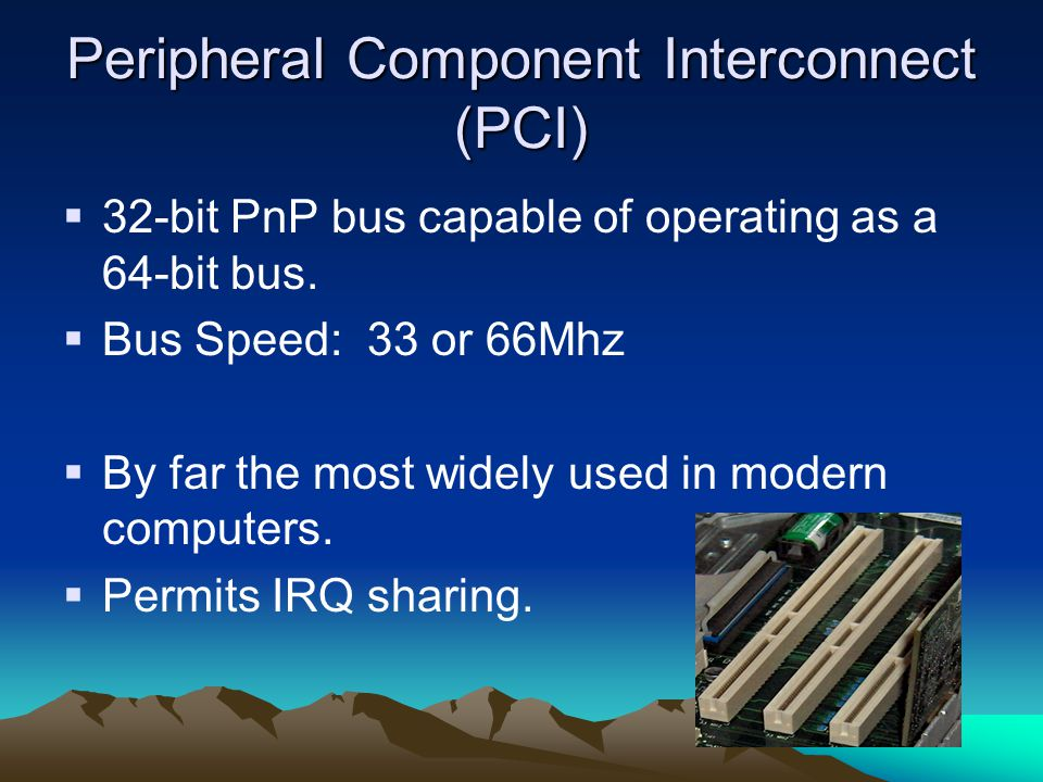 Peripheral Component Interconnect (PCI)