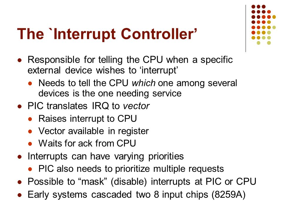 The `Interrupt Controller'