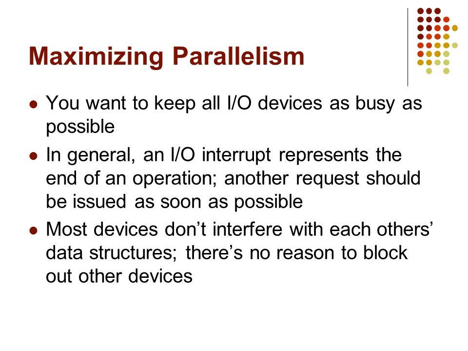 Maximizing Parallelism