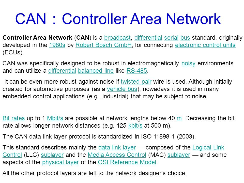 CAN:Controller Area Network