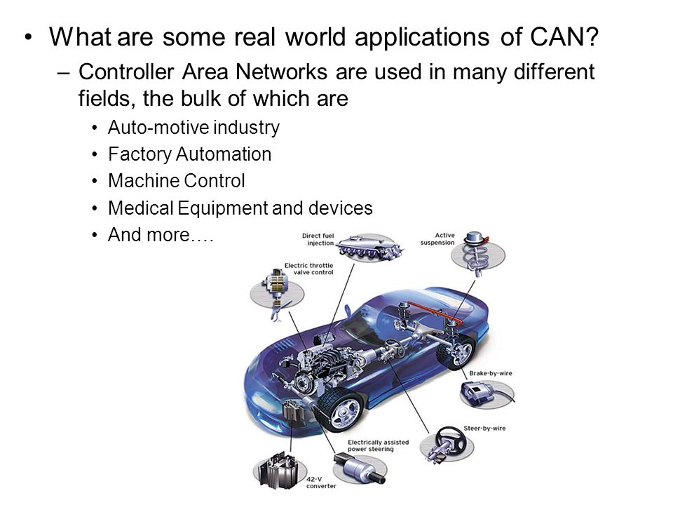 What are some real world applications of CAN
