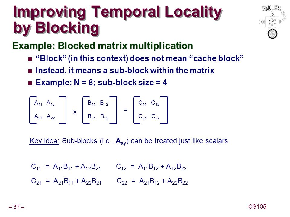 Improving Temporal Locality by Blocking