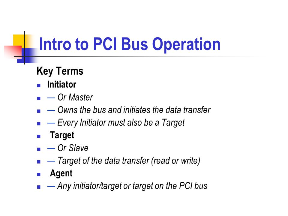 Intro to PCI Bus Operation