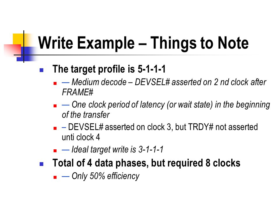 Write Example – Things to Note