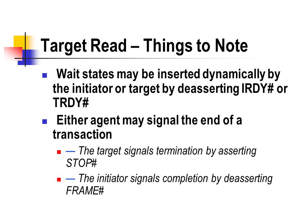 Target Read – Things to Note
