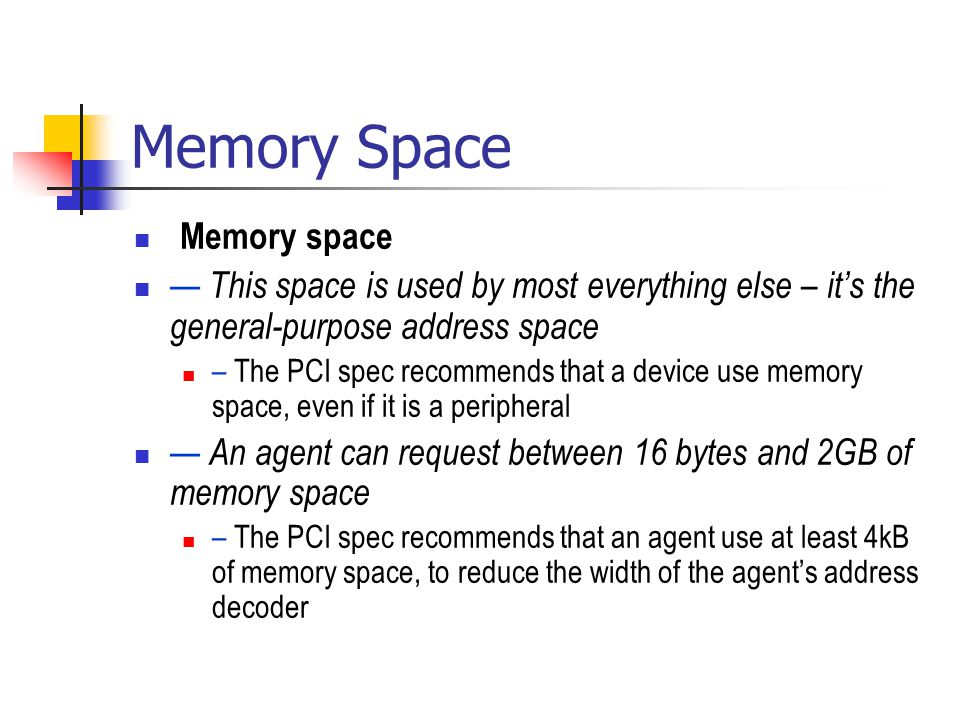Memory Space Memory space