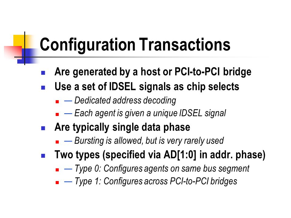 Configuration Transactions